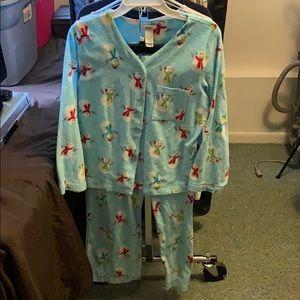 Snowman print pajamas